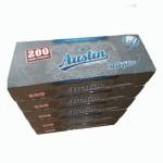 Set Tuburi tigari pentru injectat tutun Austin 5 cutii x 200 buc , multifiltru carbon,foita filtru alba, 1000 buc
